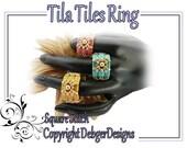 Tila Tiles Ring - Beading Pattern Tutorial