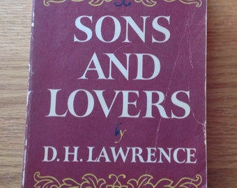 Vintage copy of Sons and Lovers by D H Lawrence