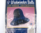 Westminster Bells NOS Set of 4 Dark Blue Tissue Paper