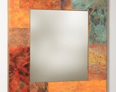 33x36 metal and Copper Mirror