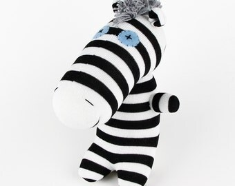 Christmas Gift New Year Gift Birthday Gift Handmade Sock Zebra Stuffed Animal Doll Baby Toys