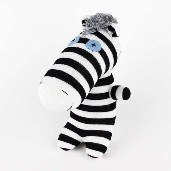 Christmas Gift New Year Gift Birthday Gift Handmade Sock Zebra Stuffed Animal Doll Baby Toys