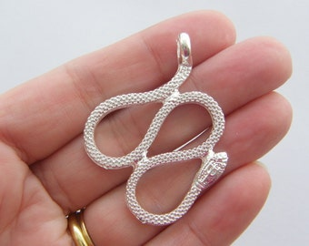 1 Snake pendant  silver plated A59
