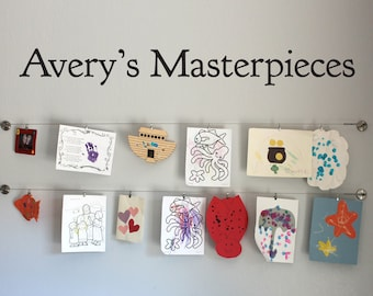 Personalized Masterpieces Wall Decal - Children Artwork Display Decal - Custom Name - Large