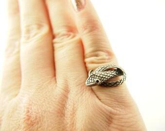 Snake Ring - Sterling Silver - Vintage