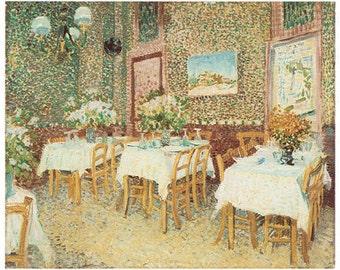 Wooden jigsaw puzzle. RESTAURANT 2.  Van Gogh. Impressionist puzzle. Impressionism. Wood, handcut, handcrafted, collectible. Bella Puzzles.