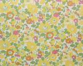 Liberty tana lawn printed in Japan - Betsy - Yellow mint mix