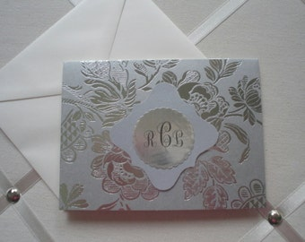 Anna Griffin Silver Foil Notecards Set of Five