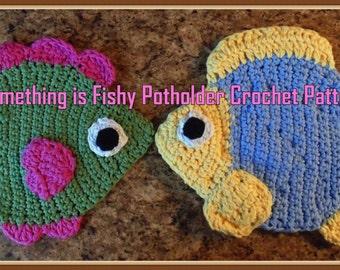 Something is Fishy Potholder Crochet Patterns PDF  - INSTANT DOWNLOAD
