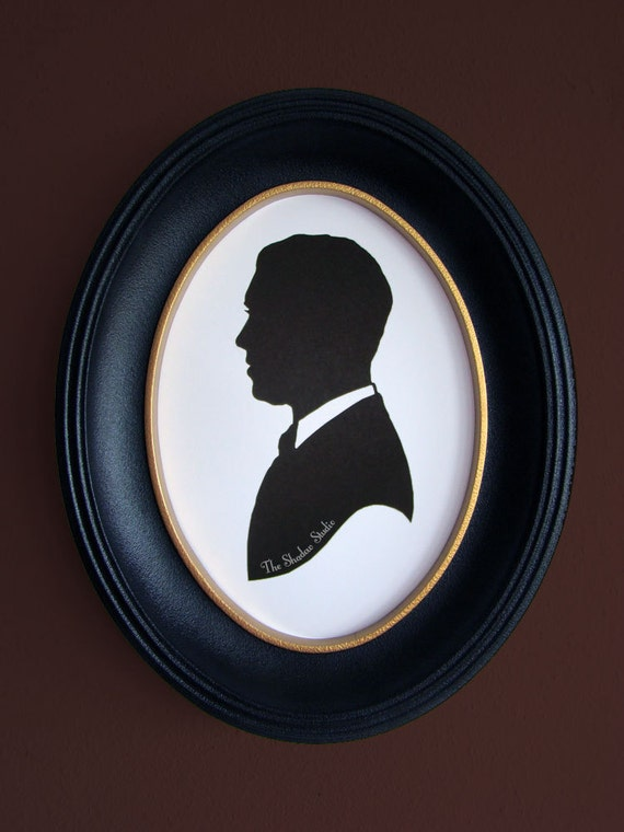 James Stewart as Scottie Ferguson from Alfred Hitchcock's Vertigo Hand-Cut Paper Silhouette Portrait
