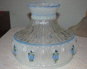 "10"" Blue Floral Student Shade Hand Painted"