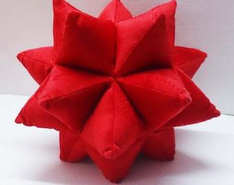 star pillow-red pillow-velvet throw pillow-designer pillow-star baby shower-kids decor-baby shower-plushie-solid throw pillow-stars