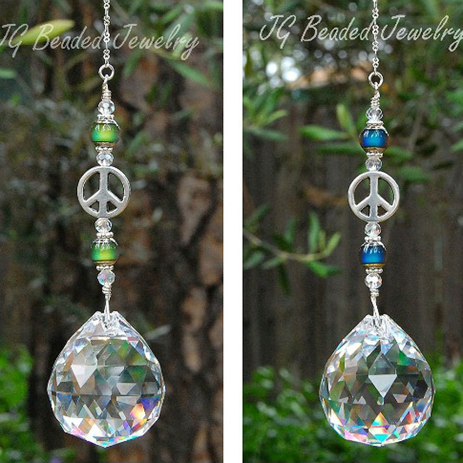 Color Changing Prism Crystal Suncatcher With By