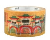 Limited Edition mt Japanese Washi Masking Tape - Taiwan Picture Scroll / Taiwan Landmarks (No repetition)