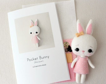 Marzipan Pocket Bunny Pattern Kit