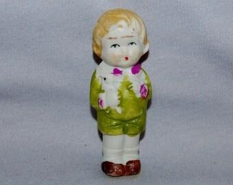 Vintage / Boy / Bunny / Rabbit / Bisque / Doll / penny doll / frozen charlotte / vintage dolls
