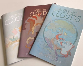 Above the Clouds comic - 3 comic book set! // All Ages Fantasy Graphic Novel // Comic Book