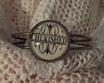 Cherished cuff bracelet