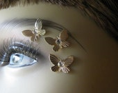 Gold Butterfly Eye Decals Eye Bindi Sprite Fairy Costume Jewelry Nonpiercing Eyebrow Accessory Crystal Butterfly 3D Tattoo Butterfly Tattoo