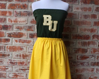 SALE Baylor Bears Game Day Strapless Dress - Size Small