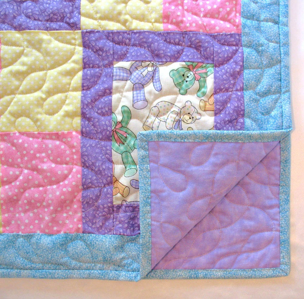 Baby Quilt For Girl Handmade Baby Quilt Quilted Patchwork