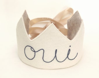 Oui! Felt Embroidery Crown for children