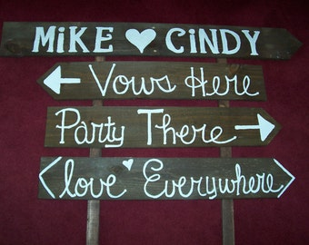 Wedding Signs rustic wooden beach decorations country farm signage reception Outdoor reclaimed decor shabby vintage