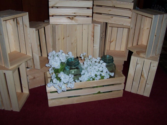 Flower planter box wooden crates 18in wedding centerpieces like this item junglespirit Images