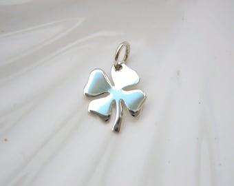 Sterling Silver Four Leaf Clover Charm - Add On - Lucky Irish Clover - Shamrock