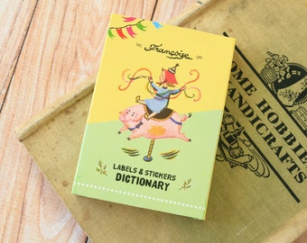 7321 Francoise Labels & stickers Dictionary set 90sheets