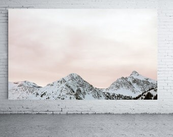 Large Scale Photography on Mounted 30x20 inches  Canvas White Mountain Peaks