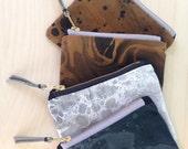 Mini marbled zip pocket bag