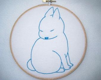 Bunny Hand Embroidery Hoop Art