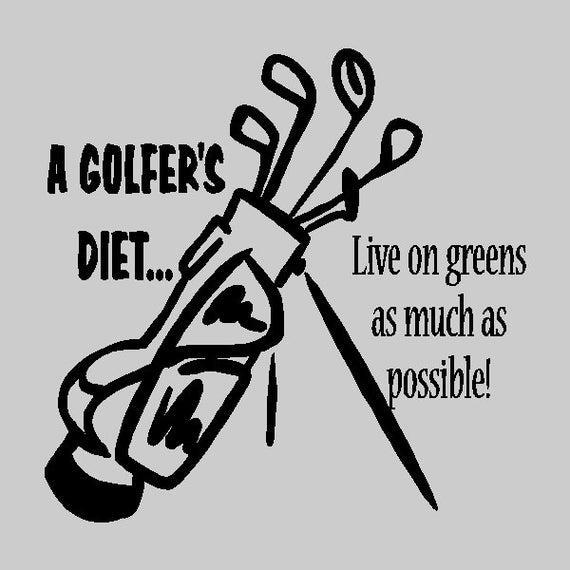 A Golfers Diet Wall Quote Decal by eyecandysigns