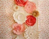 Large Paper Flower Wall, Giant Paper Flower Decor, Paper flowers for wedding, reception decor, Coral wedding decor, Guava wedding flowers