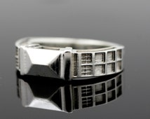 TARDIS Ring Solid Sterling Silver