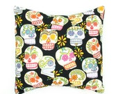 Sugar Skulls Day of the Dead  Pillow Cover  18 x 18