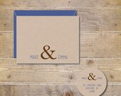 Ampersand Wedding Thank You Cards, Ampersand Bridal Shower Thank You Cards, Ampersand, Thank You Cards, Rustic Wedding, Affordable Wedding