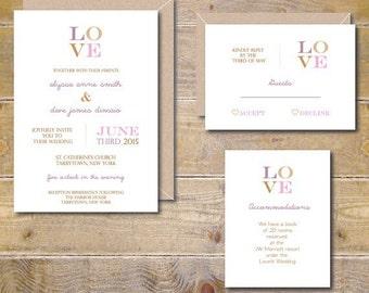 Love Wedding Invites. Rustic Wedding. Wedding Invitations. Wedding Invitation. Invitations. Wedding Invites. Invitations  - It's Only Love