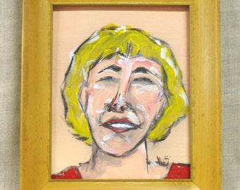 Female Portrait Painting , Blond , Paintings of Women, Wall Decor, Portraiture, Woman, Framed Art, Original Fine Art, Handmade, Hand Painted