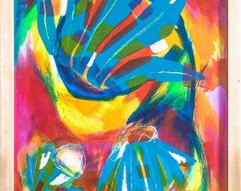 Original Painting, 'Flower Fall'
