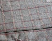 2 yards Vintage Pink Gray Plaid Cotton Flannel Plaid Fabric 36x76
