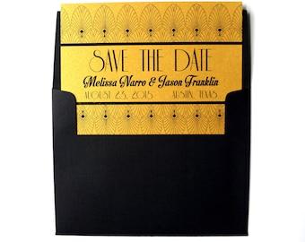 Save the Date: Old Hollywood, Art Deco - DIGITAL DESIGN