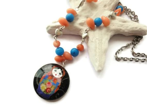 Special deal Matryoshka necklace russian stacking by ...
