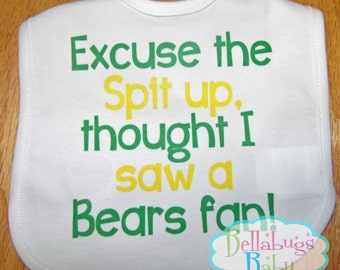 Excuse the spit up Bib - Green Bay Packers - Football - Baby Fan Gear