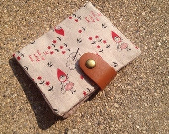 Tissue/ Tampon Pad Wallet - little red riding hood