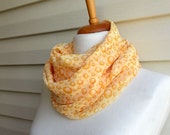 Yellow Bubbles infinity scarf, Gift for Her, Gift For Mom, Chiffon Scarf, Urban Outfit, Lightweight Spring Fashion