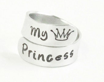 My princess ring - Princess crown ring - Ring for daughter - Girlfriend ring - Gift for wife - Gift for daughter