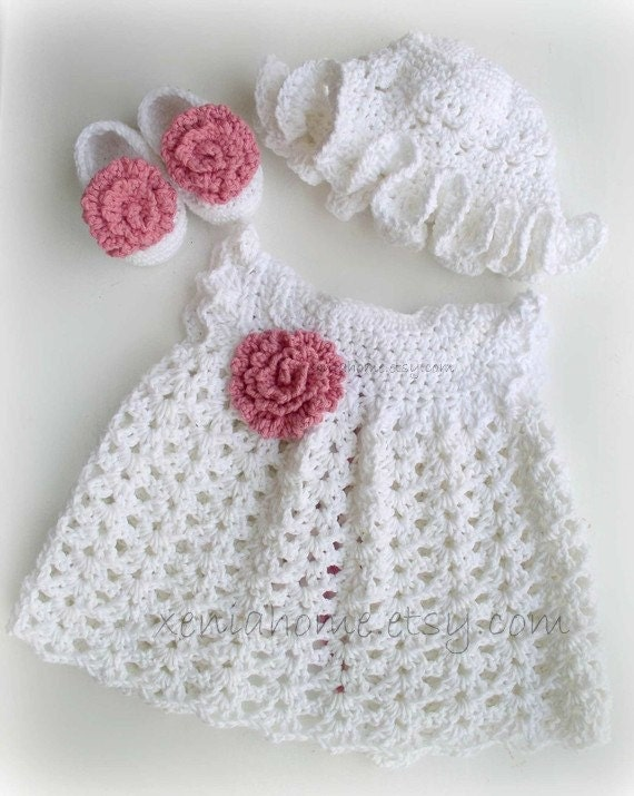Items similar to 0-3 months Baby Girl Dress in Cotton, Shoes and ...