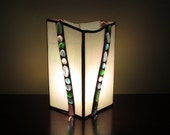 Mint Stained Glass Lamp Handmade